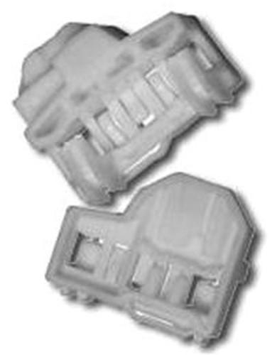 Első ajtóüveg rögzítő patent készlet balos 2db/cs fehér Volkswagen Seat Audi Skoda