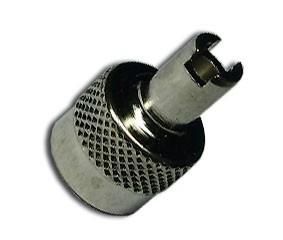 Fémházas szelepsapka, ezüst, 25 db/csomag