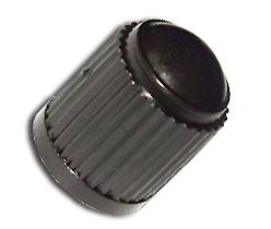 Műanyag szelepsapka, fekete, 25 db/csomag