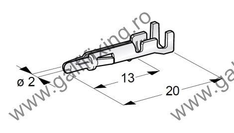 Hengeres csatlakozó dugó rögzítőnyelvvel, 2,0 mm, 10 db/csomag
