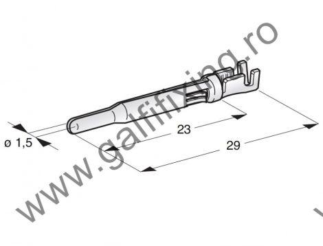 Hengeres csatlakozó dugó rögzítőnyelvvel, 1,5 mm, 10 db/csomag