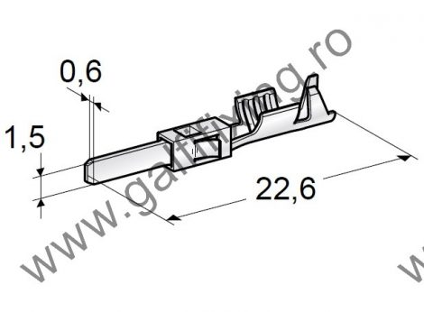 Csúszóérintkező dugó rögzitőnyelvvel, 1,5 mm, 10 db/csomag