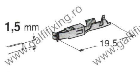 Csúszóérintkező hüvely rögzitőnyelvvel, 1,5 mm, 10 db/csomag