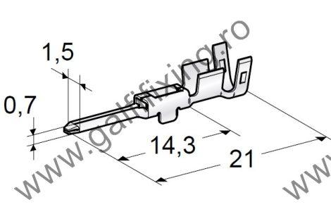Csúszóérintkező dugó, 1,7 mm, 10 db/csomag
