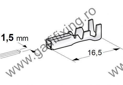 Csúszóérintkező hüvely, 2,7 mm, 10 db/csomag