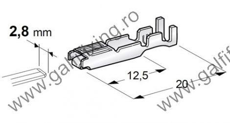 Csúszóérintkező hüvely, 2,8 mm, 10 db/csomag