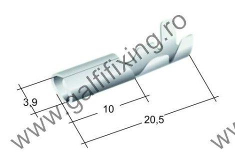 Hengeres csatlakozó dugó, 4,0 mm, 25 db/csomag