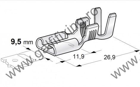 Csúszóérintkező hüvely,9,5 mm, 25 db/csomag