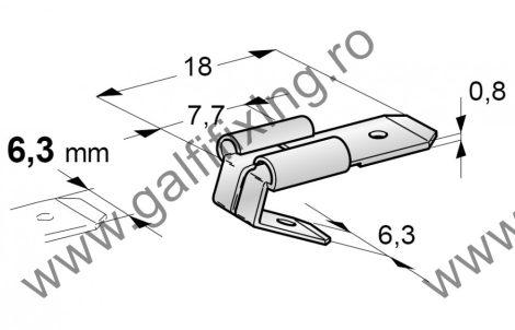 Csúszóérintkező dugó elágazóval, 6,3 mm, 25 db/csomag
