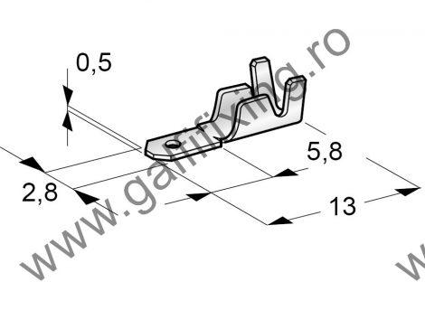 Csúszóérintkező dugó, 2,8 mm, 25 db/csomag