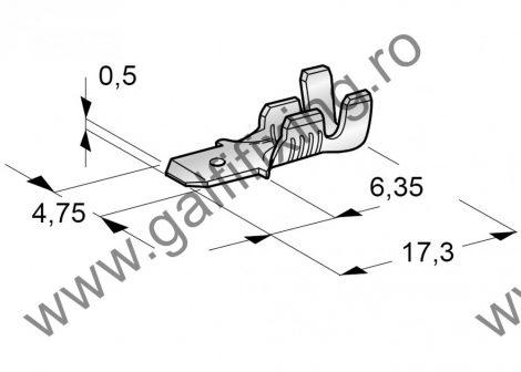 Csúszóérintkező dugó, 4,7 mm, 25 db/csomag