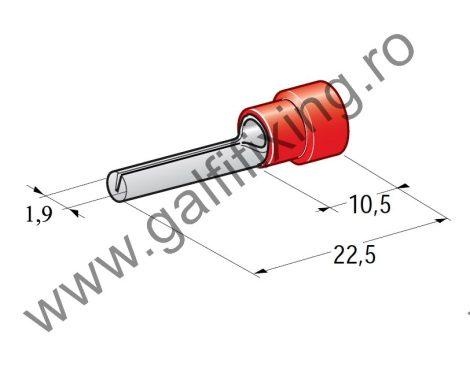 Félig szigetelt kábelvég, 1,9 mm, 25 db/csomag