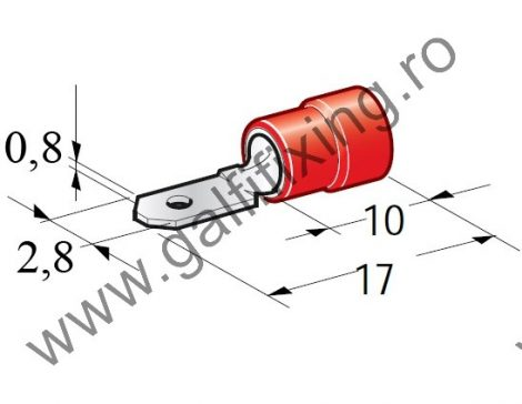 Félig szigetelt csúszóérintkező dugó, 2,8 mm, 25 db/csomag