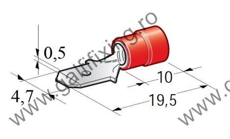 Félig szigetelt csúszóérintkező dugó, 4,7 mm, 25 db/csomag