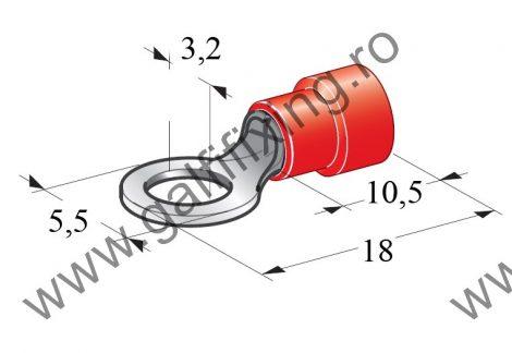 Szigetelt kábelvég, 3,2 mm, 25 db/csomag