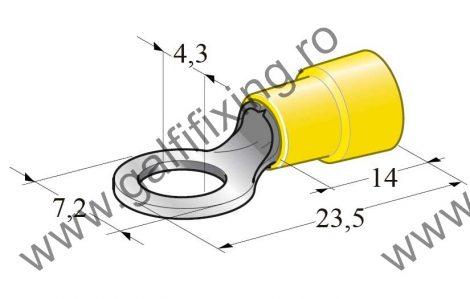 Szigetelt kábelvég, 4,3 mm, 25 db/csomag