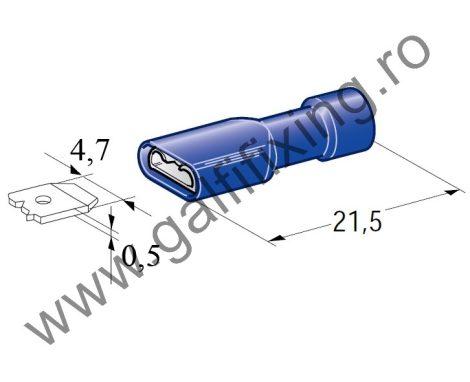 Szigetelt csúszóérintkező hüvely, 4,7 mm, 25 db/csomag