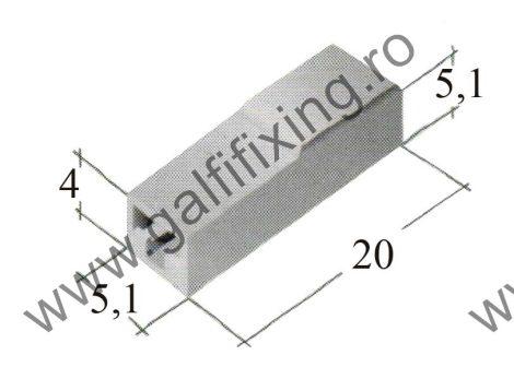 Műanyag szigetelő 2,8 mm-s csúszóérintkező hüvelyhez (160152)