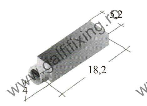 Fekete műanyag szigetelő 2,8 mm-s csúszóérintkező hüvelyhez (160152)