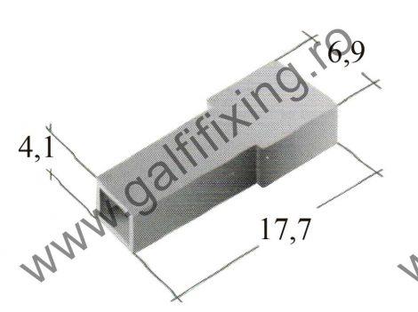 Fekete műanyag szigetelő 4,8 mm-s csúszóérintkező hüvelyhez (160153)