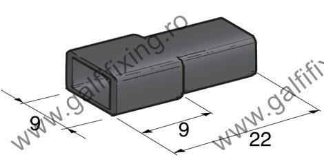 Műanyag szigetelő 6,3 mm-s csúszóérintkező hüvelyhez (160157)
