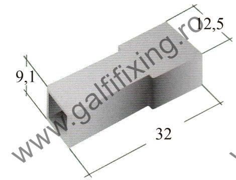 Műanyag csatlakozóház I. 6,3 mm-s csúszóérintkező dugóhoz (160166)