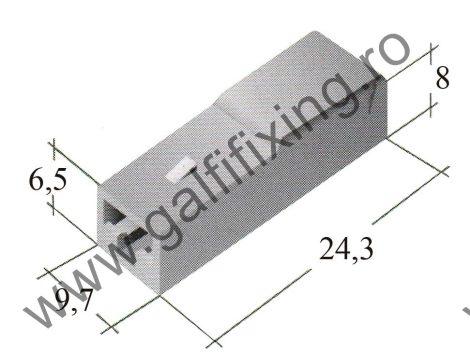 Műanyag csatlakozóház I. 6,3 mm-s csúszóérintkező dugóhoz (160158)