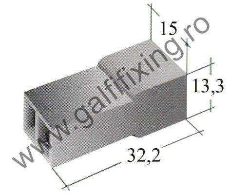 Műanyag csatlakozóház II. 6,3 mm-s csúszóérintkező dugóhoz (160166)