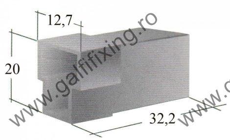 Műanyag csatlakozóház II. 6,3 mm-s csúszóérintkező hüvelyhez (160158)
