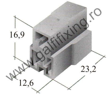 Műanyag csatlakozóház III. 6,3 mm-s csúszóérintkező dugóhoz (160166)