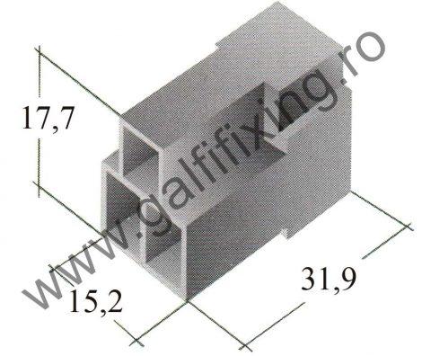 Műanyag csatlakozóház III. 6,3 mm-s csúszóérintkező hüvelyhez (160158)