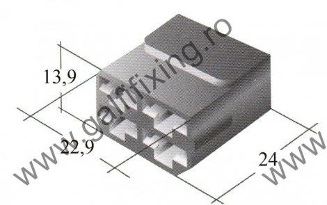 Műanyag csatlakozóház IV. 6,3 mm-s csúszóérintkező dugóhoz (160166)