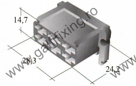 Műanyag csatlakozóház VI. 6,3 mm-s csúszóérintkező hüvelyhez (160158)