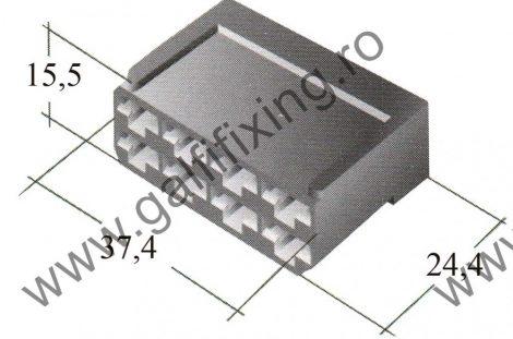 Műanyag csatlakozóház VIII. 6,3 mm-s csúszóérintkező hüvelyhez (160158)