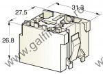 Műanyag csatlakozóház tartóelem III., 2 db/csomag
