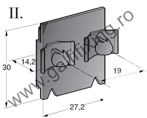Műanyag csatlakozóház tartóelem II., 2 db/csomag