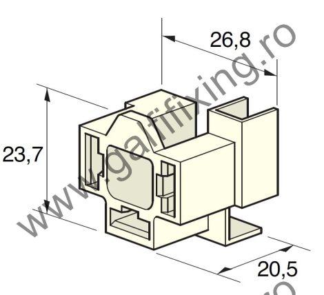 H4 izzó csatlakozóház, 8 mm-s, 90 fokos csúszóérintkező hüvelyhez (160160)