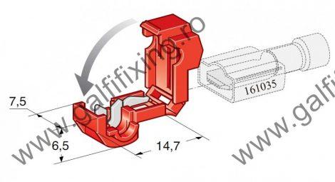 Gyorscsatlakozó, 6,3 mm-s szigetelt csúszóérintkező dugóhoz, 25 db/csomag