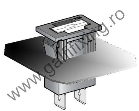 Biztosítékáz villásbiztosítékhoz, 22,5x11,5 mm, 2 db/csomag
