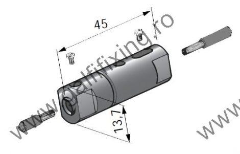 Lengő (csúszóérintkezős) biztosítékház hengeres biztosítékkal (16A), 5 db/csomag