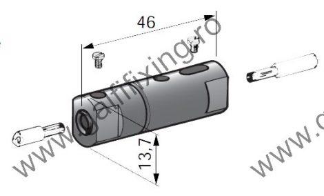Lengő (csavaros) biztodsítékház üvegbiztosítékkal (2A), 5,0x20,0 mm, 5 db/csomag