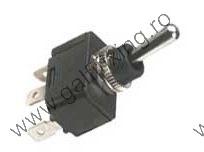 Fémkarú kapcsoló , 6A / 250 V , 2db / csomag , Háromállású 12mm