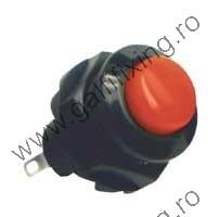 Nyomógomb-zár 250 V/1,5 A,  21 mm, 2 db/csomag