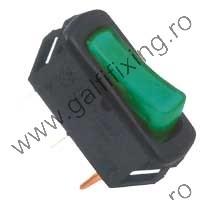 Világító billenő kapcsoló 12 V/20 A, 12 mm, 30x11 mm, 2 db/csomag