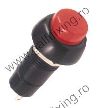 Nyomógomb-zár 250 V/3 A, 12 mm, 2 db/csomag