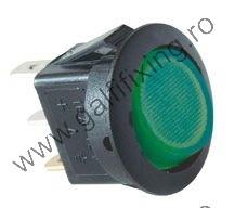 Világító billenő kapcsoló, izzóval, 12 V/16 A, 21 mm, 2 db/csomag