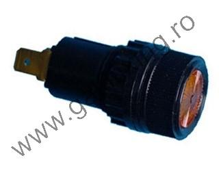 Ellenőrző lámpa izzó nélkül, 12 V, 18 mm, 2 db/csomag