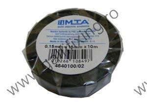 PVC szigetelőszalag, fekete, MTA, 10mx15mm, 1 db