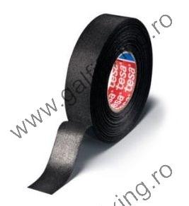 Szövet szigetelőszalag, fekete, TESA, 25mx25mm, 1 db