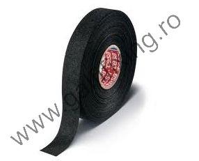 Hőálló szövet szigetelőszalag, fekete, TESA, 25mx19mm, 1 db